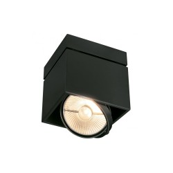 SLV 117100 Matt Black Kardamod Surface Square ES111 Single Ceiling Light