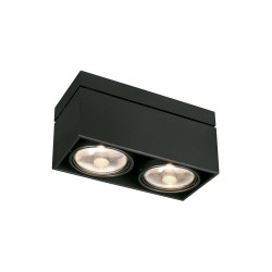 SLV 117110 Matt Black Kardamod Surface Square ES111 Double Ceiling Light
