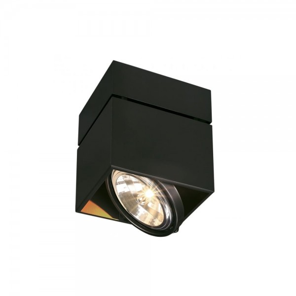 SLV 117120 Matt Black Kardamod Surface Square QRB Single Ceiling Light
