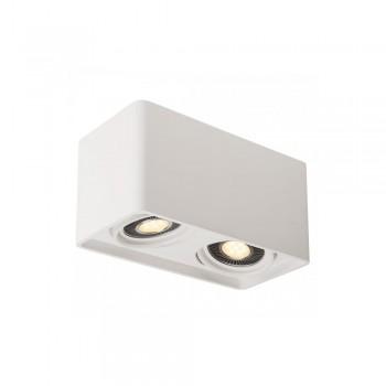 SLV 148082 White Plastra QPAR111 Double Ceiling Light