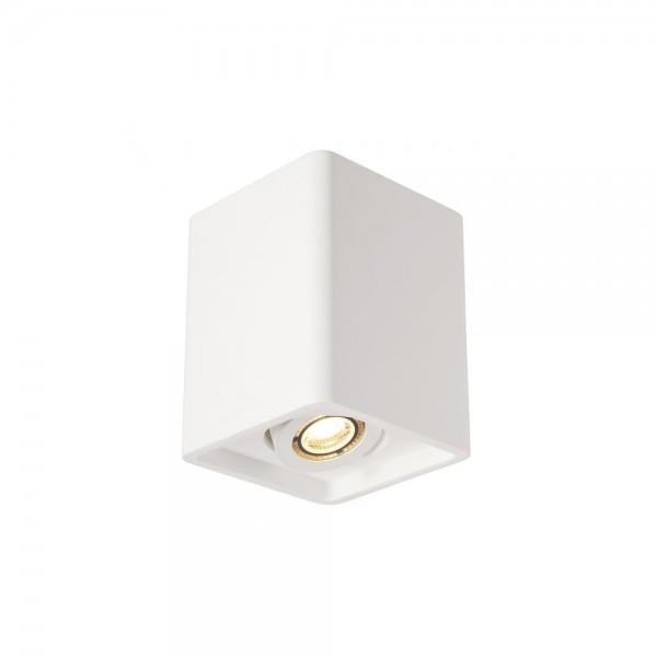 SLV 148051 White Plastra Box 1 Ceiling Light