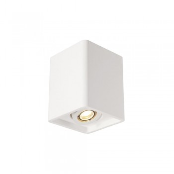 SLV 148051 White Plastra Box 1 Ceiling Light