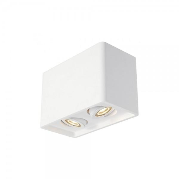 SLV 148052 White Plastra Box 2 Ceiling Light