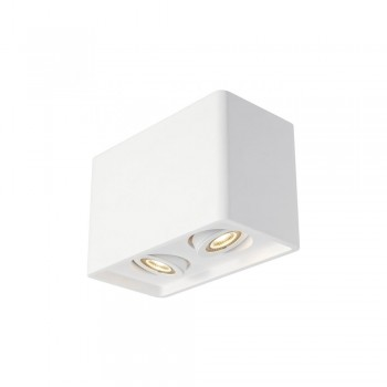 SLV 148052 White Plastra Box 2 Ceiling Light