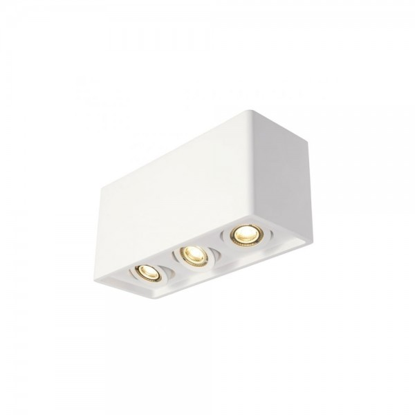 SLV 148053 White Plastra Box 3 Ceiling Light