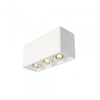 SLV 148053 White Plastra Box 3 Ceiling Light
