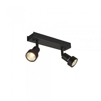 SLV 147370 Matt Black Puri 2 Wall/Ceiling Light