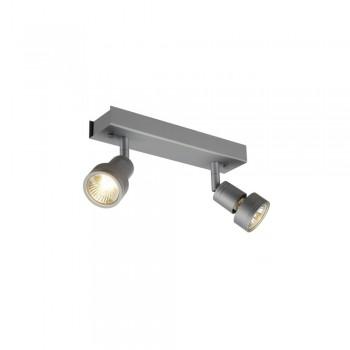 SLV 147374 Silver-Grey Puri 2 Wall/Ceiling Light