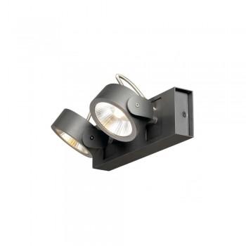 SLV 1000129 Black Kalu 2 60 º LED Wall/Ceiling Light