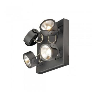 SLV 1000135 Black Kalu 4 60 º Square LED Wall/Ceiling Light