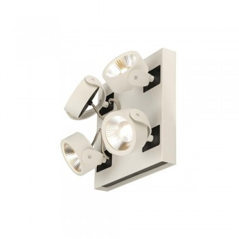SLV 1000136 White/Black Kalu 4 60 º Square LED Wall/Ceiling Light