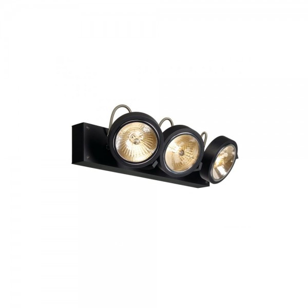 SLV 147270 Matt Black Kalu 3 Wall/Ceiling Light