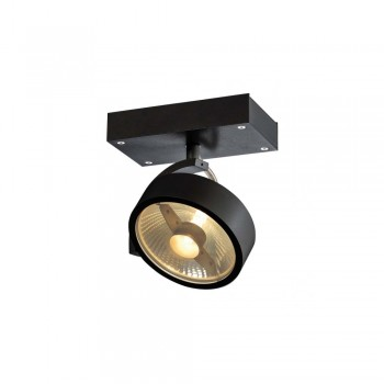 SLV 1000702 Matt Black Kalu 1 QPAR111 Wall/Ceiling Light
