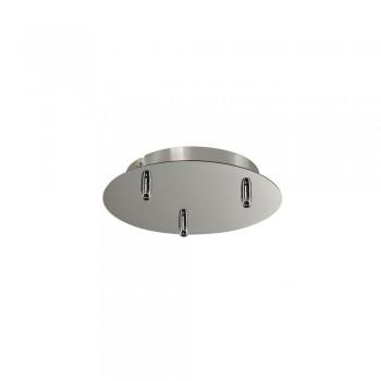 Intalite 132615 Chrome Fitu Triple Ceiling Canopy