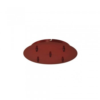 SLV 132626 Wine Red Fitu Quintuple Ceiling Canopy