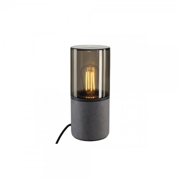SLV 155702 Grey/Smoked Glass Lisenne Tube Table Lamp