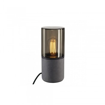 SLV 155702 Grey/Smoked Glass Lisenne Tube Table Lamp