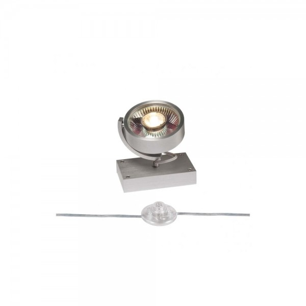 SLV 1000724 Brushed Aluminium Kalu 1 QPAR111 Floor Light