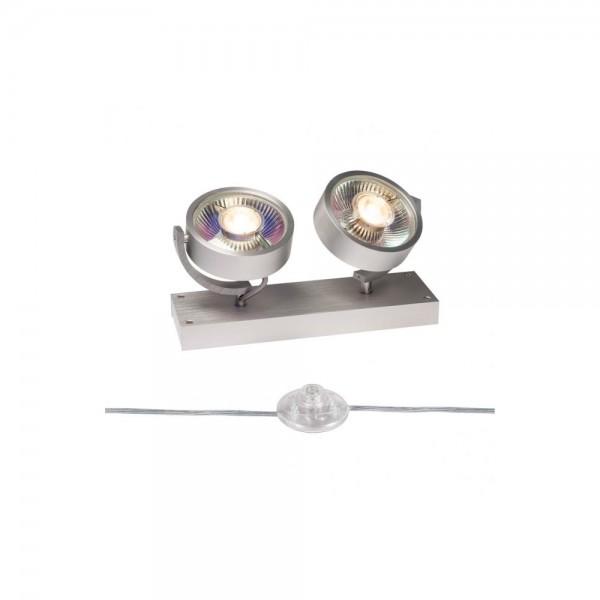 SLV 1000925 Brushed Aluminium Kalu 2 QPAR111 Floor Light