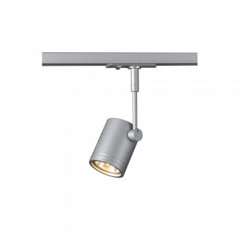 SLV 143442 Silver-Grey Bima 1 Lamp Head for 1-Circuit Track