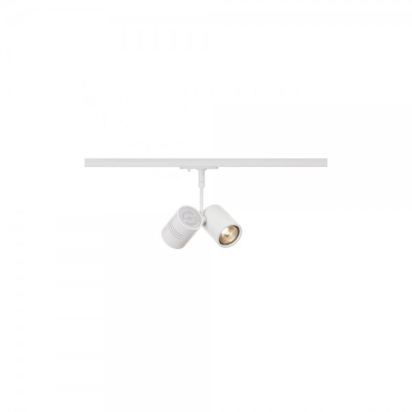 SLV 143431 White Bima 2 Lamp Head for 1-Circuit Track
