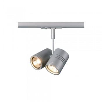 SLV 143432 Silver-Grey Bima 2 Lamp Head for 1-Circuit Track