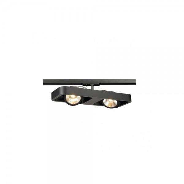 SLV 1000406 Black Lynah LED Double Spot for 1-Circuit Track