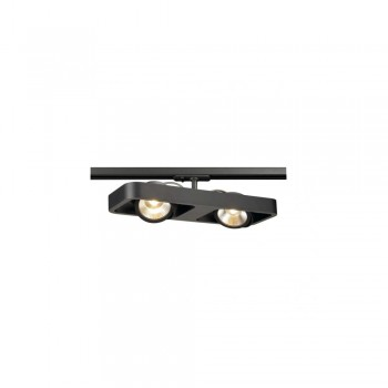 SLV 1000406 Black Lynah LED Double Spot for 1-Circuit Track