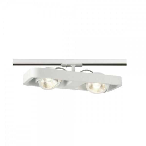 SLV 1000407 White Lynah LED Double Spot for 1-Circuit Track