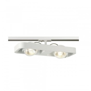 SLV 1000407 White Lynah LED Double Spot for 1-Circuit Track