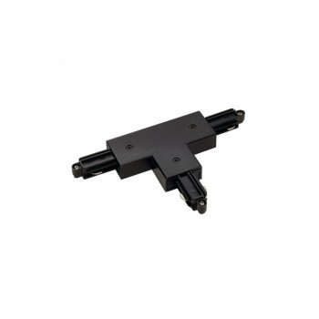 SLV 143080 Black T Coupler Earth Right 240v 1 Circuit Track