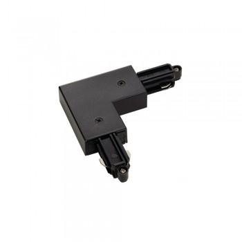 SLV 143060 Black L Coupler Earth Inner 240v 1 Circuit Track