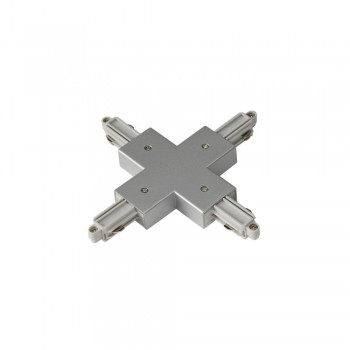 SLV 143162 Silver-Grey X-Connector for 1-Circuit Track