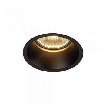 SLV 112910 Matt Black Horn GU10 Recessed Light