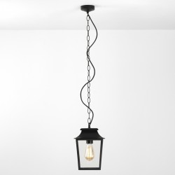 Astro 1340008 Richmond Exterior Black & Glass Pendant