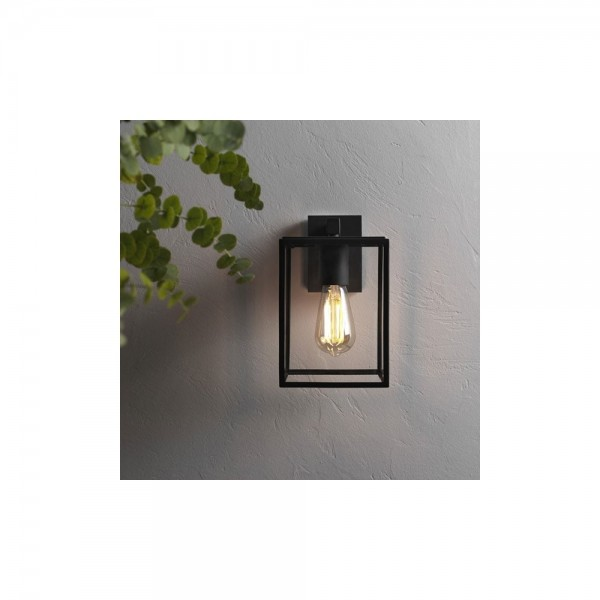 Astro 1354003 Box Exterior Lantern in Textured Black