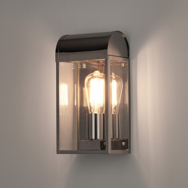Astro 1339002 Newbury Exterior Wall Light in Polished Nickel