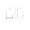 Astro 1317004 White Mast Exterior Wall Light