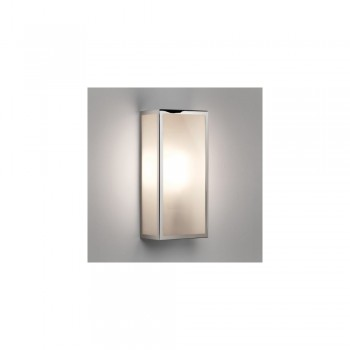 Astro 1183010 Messina Frosted Exterior Wall Light in Polished Nickel