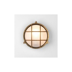 Astro 7880 Thurso Round Natural Brass Exterior Light