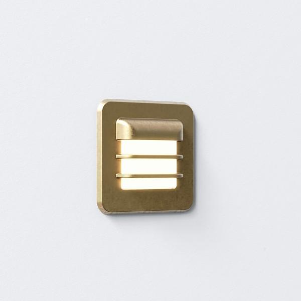 Astro 1379001 Arran Square LED Exterior Light in Antique Brass