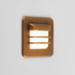 Astro 7877 Arran Square LED Exterior Light in Antique Brass