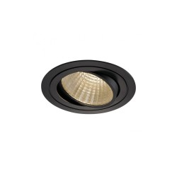SLV 114270 Matt Black New Tria Set Round 30º LED Downlight 3000K