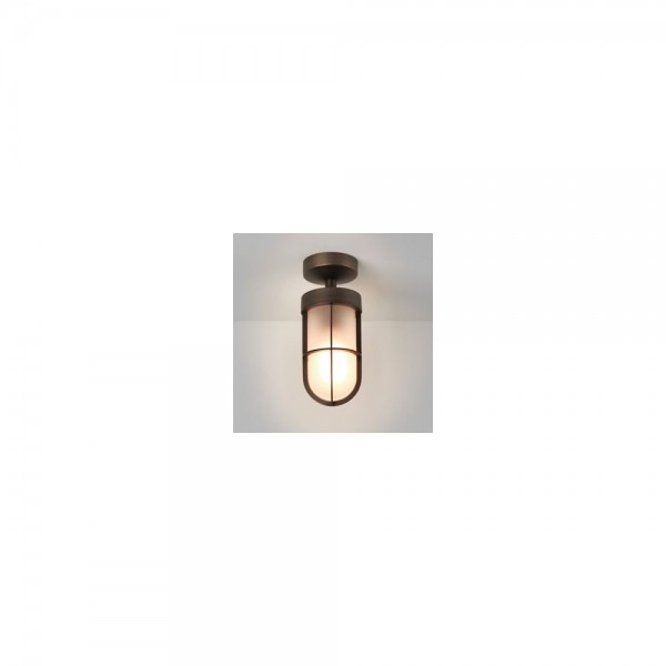 Astro 1368011 Bronze Semi-Flush Frosted Exterior Ceiling Light