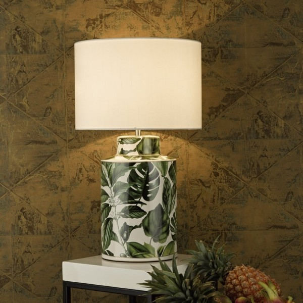 Dar Lighting FIL4224 Filip Table Lamp Green Base only
