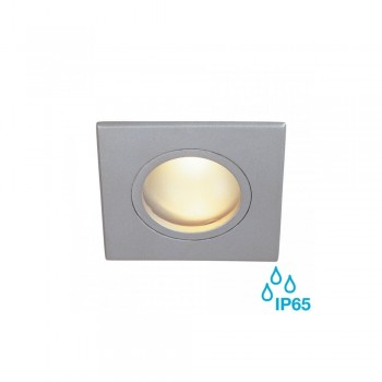 SLV 111128 Silver-Grey Dolix Out MR16 Square Recessed Downlight