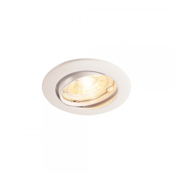 SLV 1000718 White Pika QPAR51 Adjustable Recessed Light
