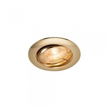 SLV 1000720 Brass Pika QPAR51 Adjustable Recessed Light