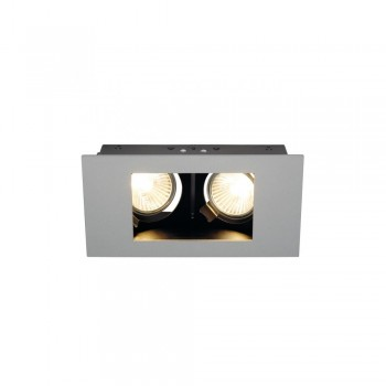 SLV 112434 Silver-Grey Indi Rec 2S GU10 Recessed Downlight