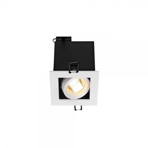 SLV 115511 Matt White Kadux 1 GU10 Recessed Ceiling Light